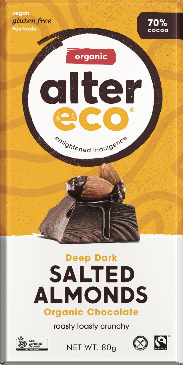 Alter Eco Dark Salted Almond Chocolate