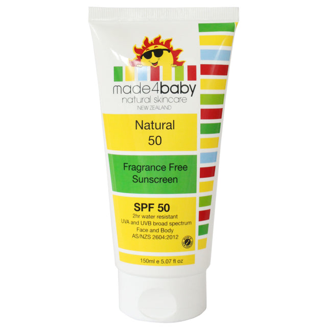 made4baby Fragrance Free Sunscreen SPF50