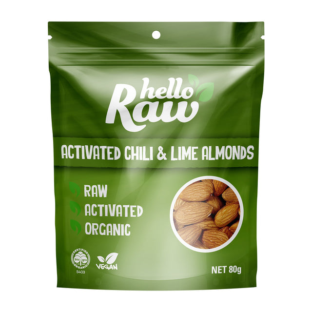 Hello Raw Chilli Lime Almonds
