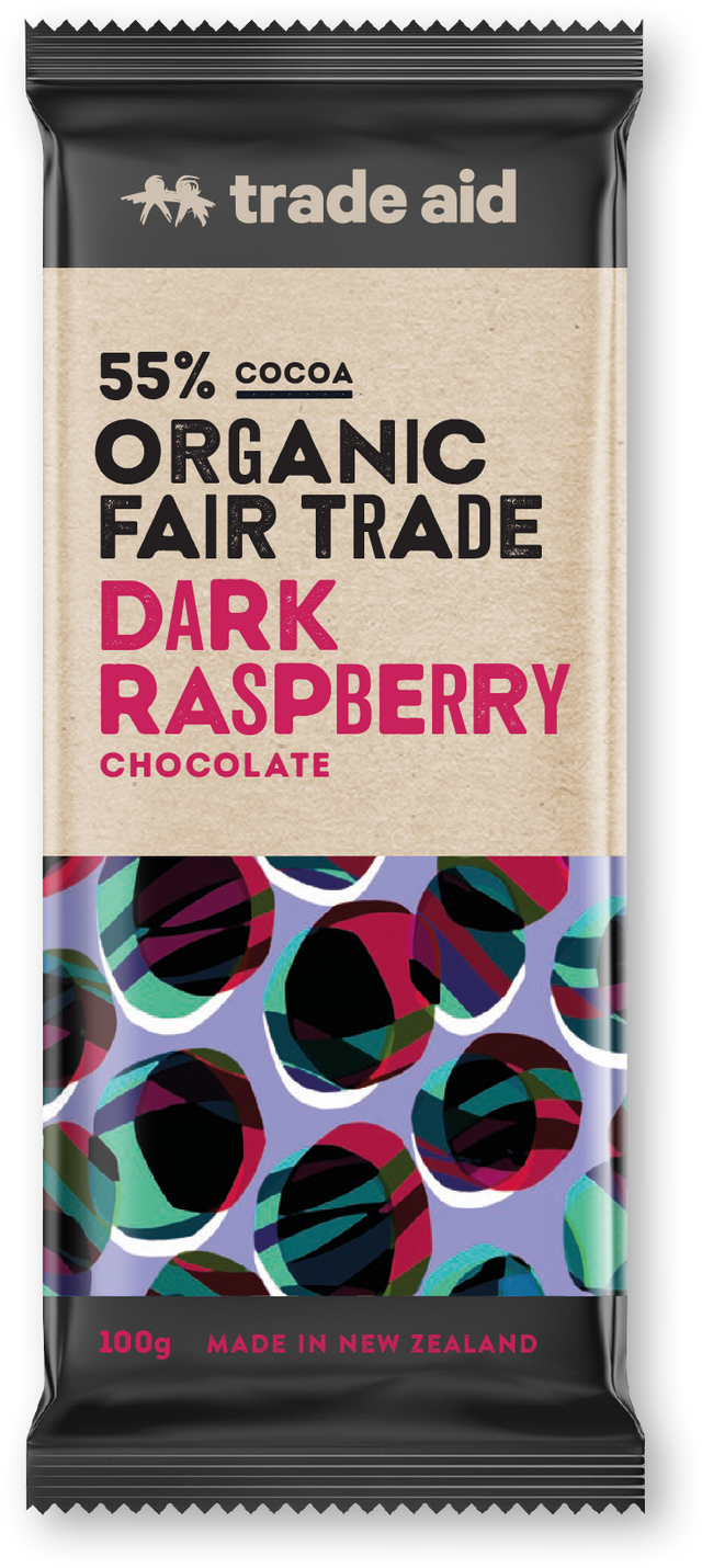 Trade Aid 55% Raspberry Chocolate