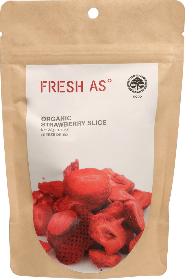 Fresh As Organic Dried Strawberries