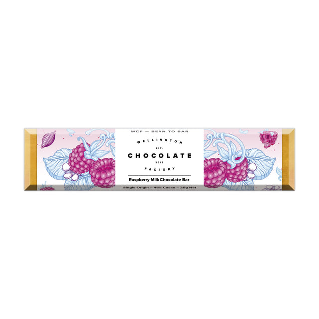 Wellington Chocolate Factory Raspberry Milk Chocolate Bar
