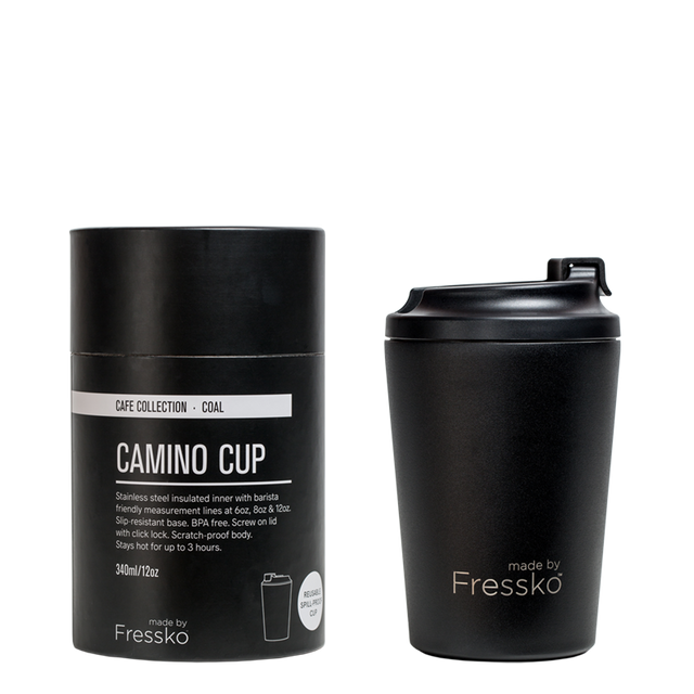 Fressko Black Stainless Steel Coffee Cup
