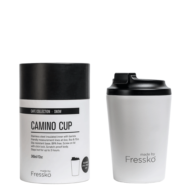 Fressko White Stainless Steel Coffee Cup
