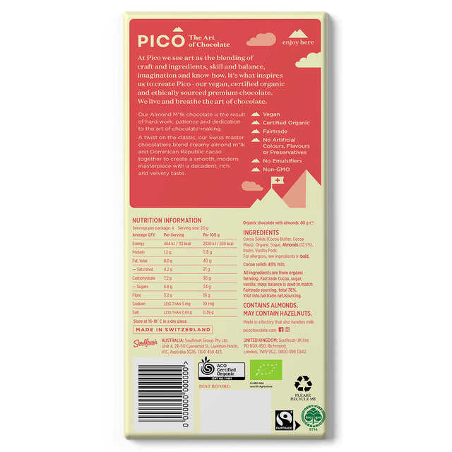 Pico Organic Vegan Chocolate Almond Milk
