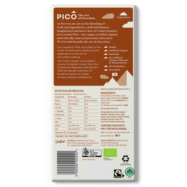 Pico Organic Vegan Chocolate Hazelnut Milk