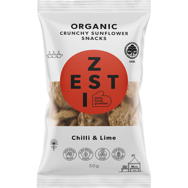 Zesti Organic Sunflower Snacks Chilli & Lime