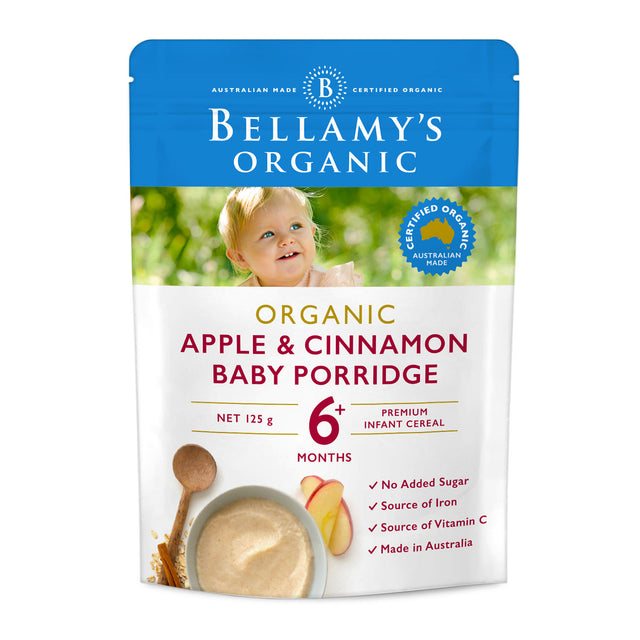 Bellamy's Organic Apple and Cinnamon Porridge