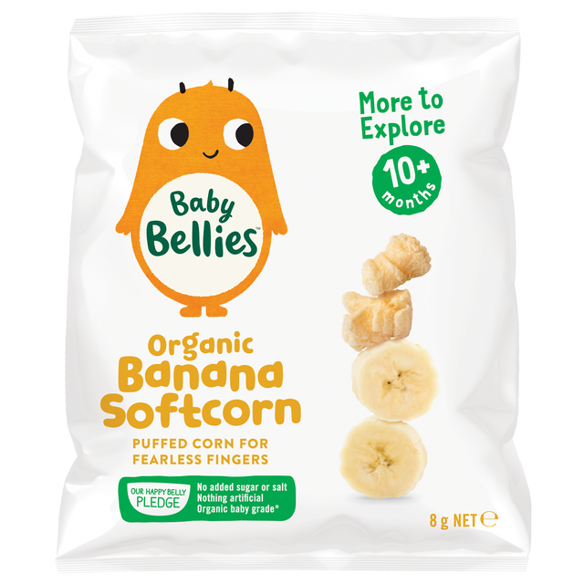 Little Bellies Organic Banana Soft-corn