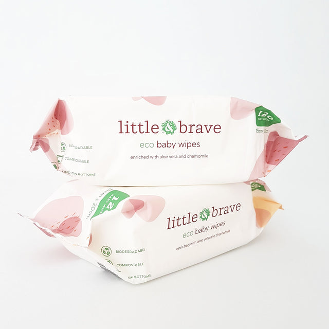 Little & Brave Compostable Wipes 120 pack