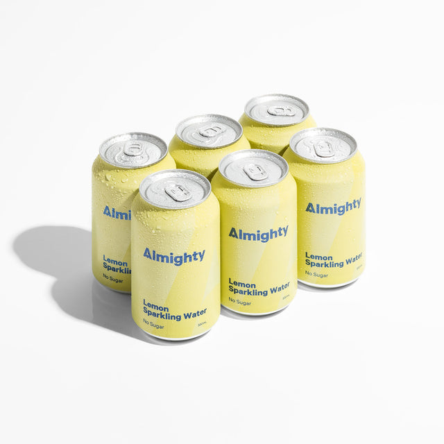 Almighty Lemon Sparkling Water 6 pack