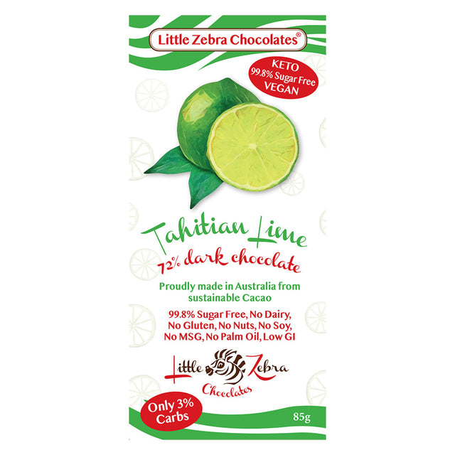 Little Zebra Tahitian Lime Chocolate