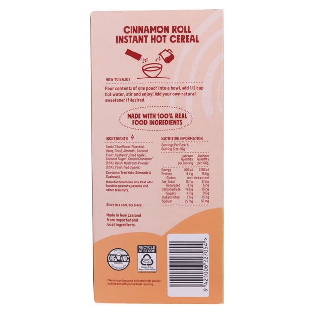 Chantal Organics Cinnamon Roll Hot Cereal