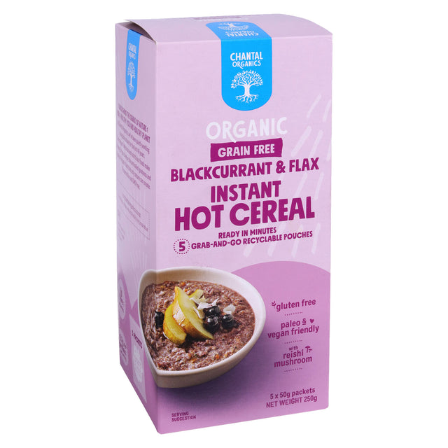 Chantal Organics Blackcurrant & Flax Hot Cereal