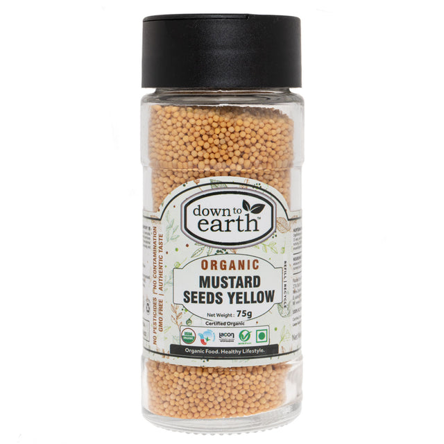 Down To Earth Organic Mustard Seeds Yellow