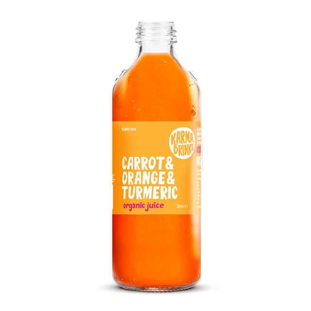 Karma Drinks Organic Carrot Orange Turmeric Juice
