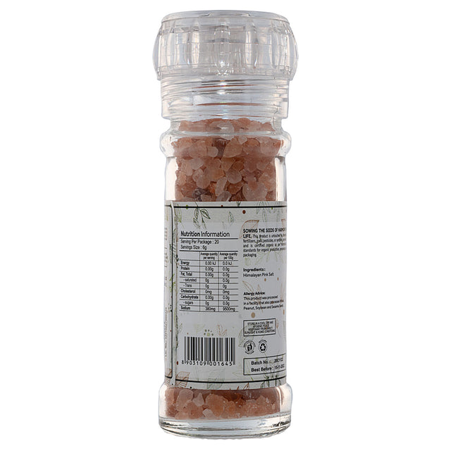 Down To Earth Himalayan Pink Salt Coarse Grinder