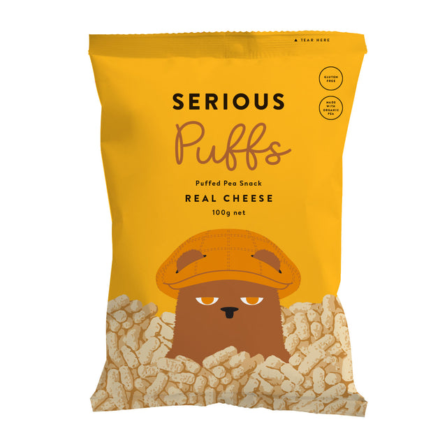 Serious Organic Puffs Real Cheese