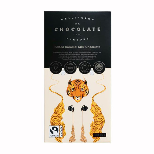 Wellington Chocolate Factory Salted Caramel Milk Chocolate Bar