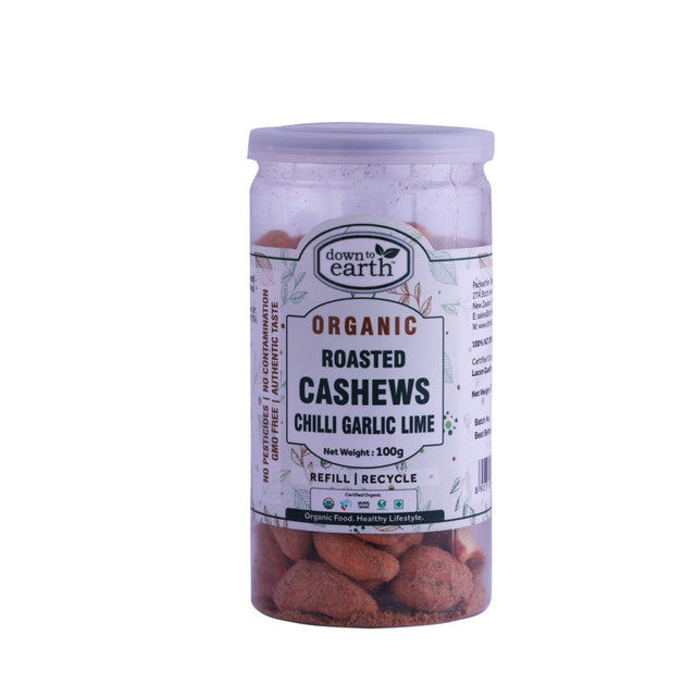 Down To Earth Organic Cashews Chilli Garlic Lime