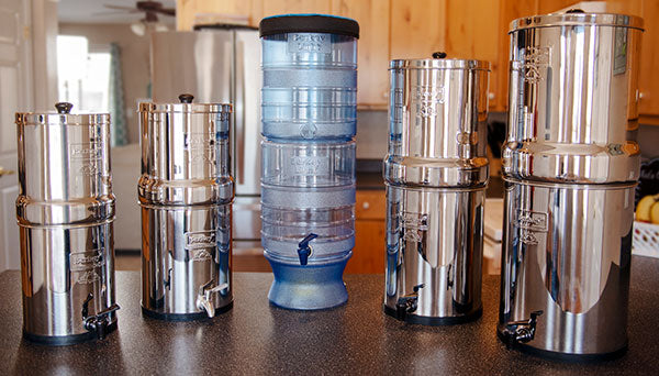A Variety of Berkey water filter system sizes
