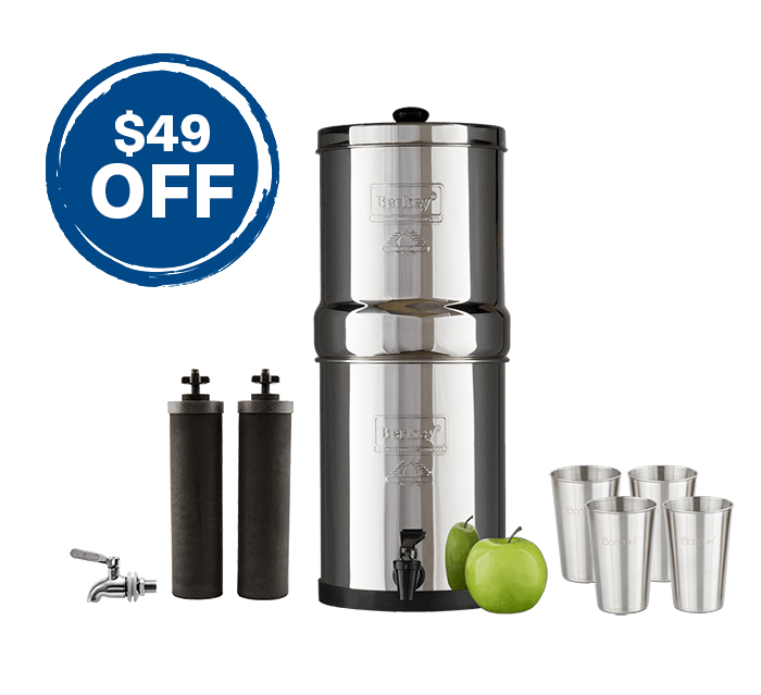 Travel Berkey & Stainless Steel Spigot Bundle