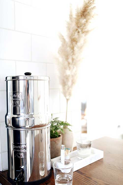 berkey filtering water