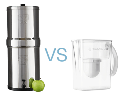 Berkey vs Clearly filtered water filters