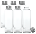 Boroux Basics 6 Pack Glass Water Bottles