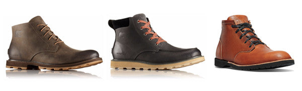 Sorel and Danner travel shoes.