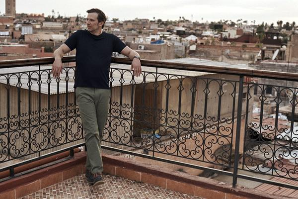 Stefan wearing the Ascender Chinos in Morocco