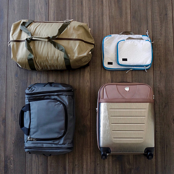 The bags we tested with our 3 day business traveler packing list.