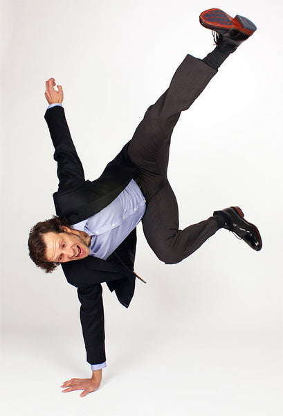 Stefan doing a dangerous handstand.
