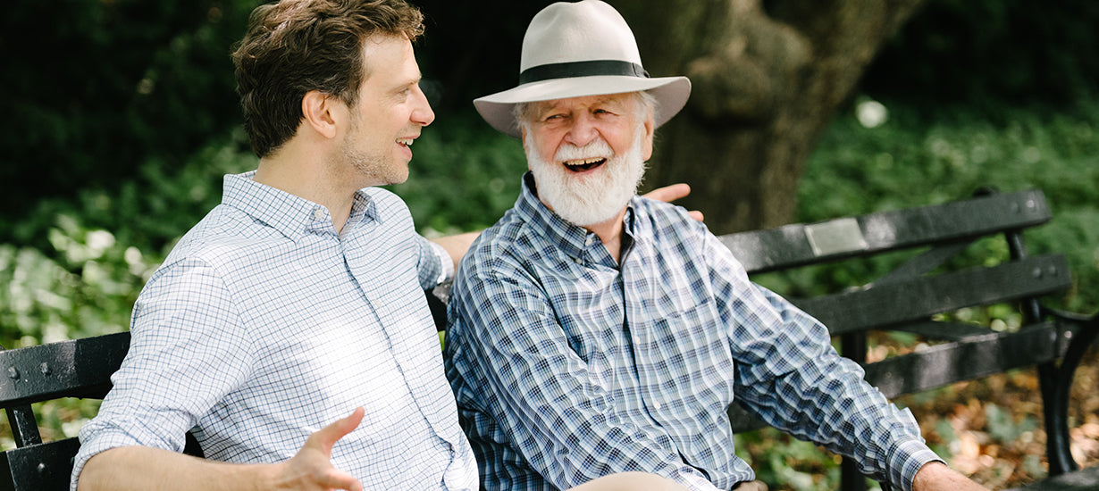 Stefan and his father.