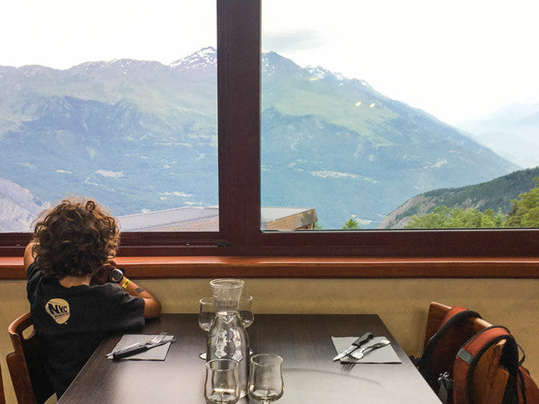 Taking in the view from the dining hall at a Colonie de Vacances.
