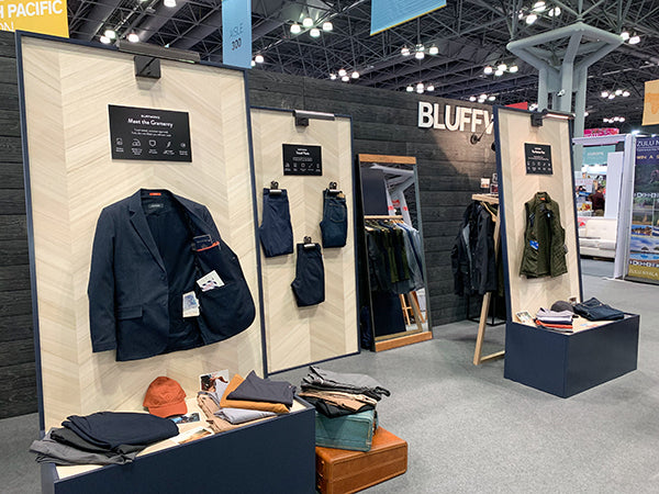 The Bluffworks booth at the New York Times Travel Show.