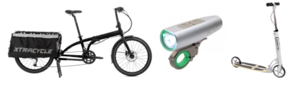 An Xtracycle, Blaze lights, and a scooter is just some of the gear we use to adventure in the city.