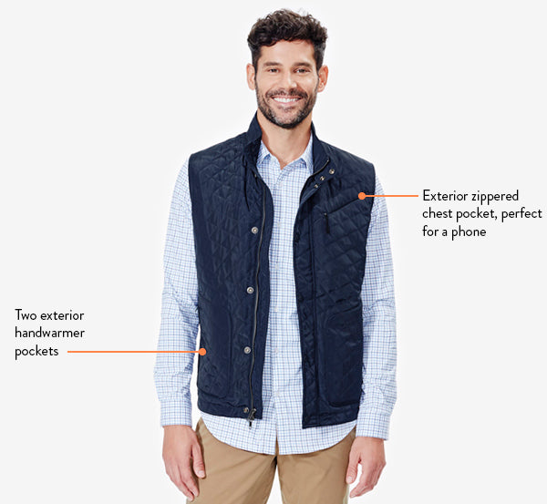 This travel vest with hidden pockets is functional while remaining sleek.