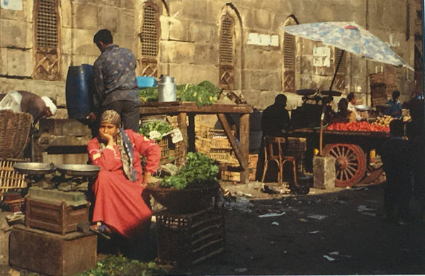 Woman at market.