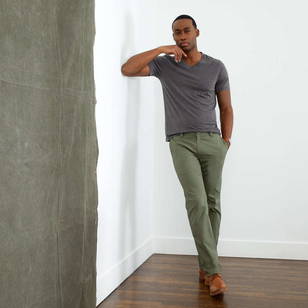Ascender Chino Tailored Fit - Boulevard Green