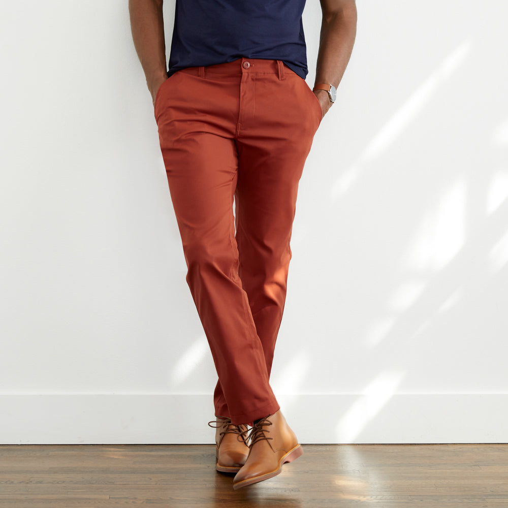 Ascender Chino Tailored Fit - Final Sale - Mars Red