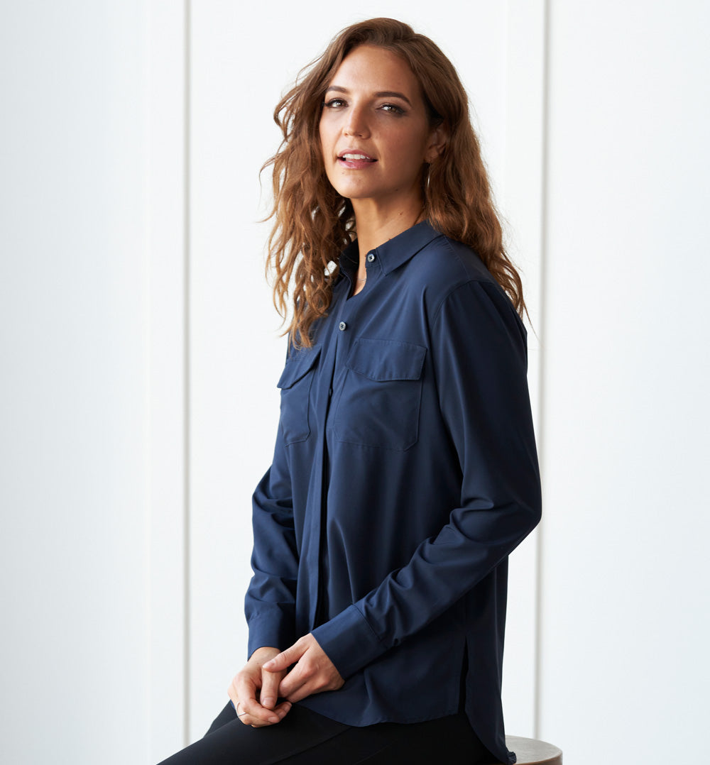 Azores Blouse Petite Fit - Inky Navy
