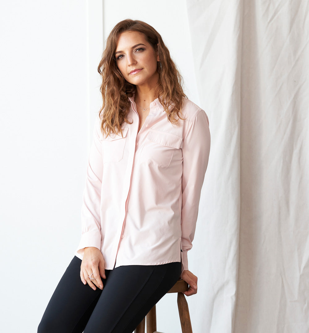 Azores Blouse Standard Fit - Pale Rose