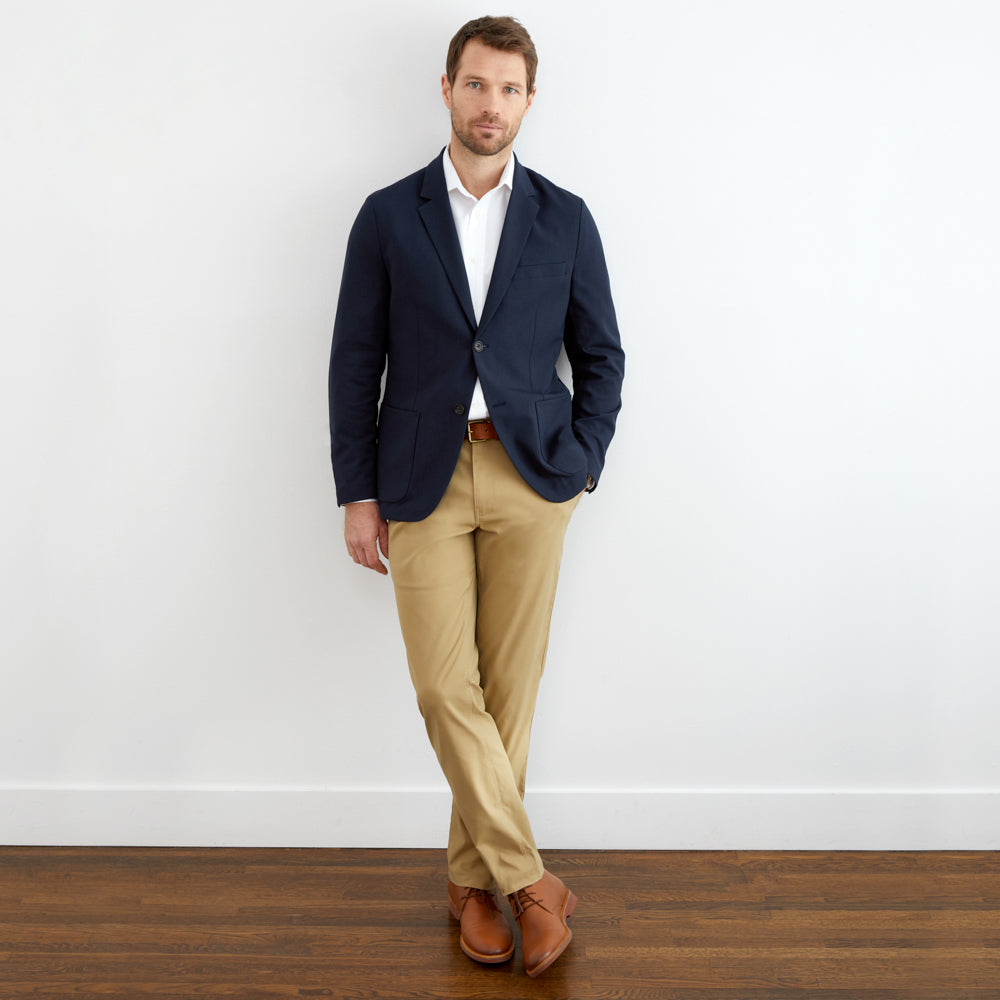 Hopsack Blazer Slim Fit - Midnight Navy
