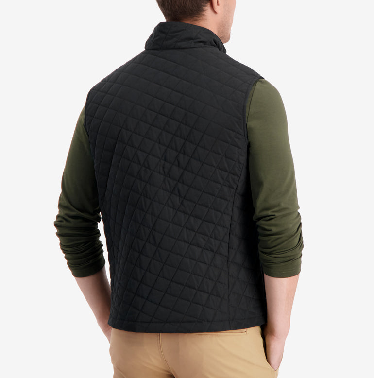 Horizon Quilted Vest - Galaxy Black