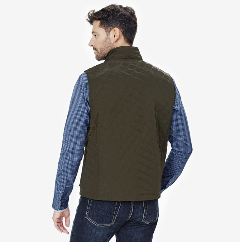 Horizon Quilted Vest - Olive Green