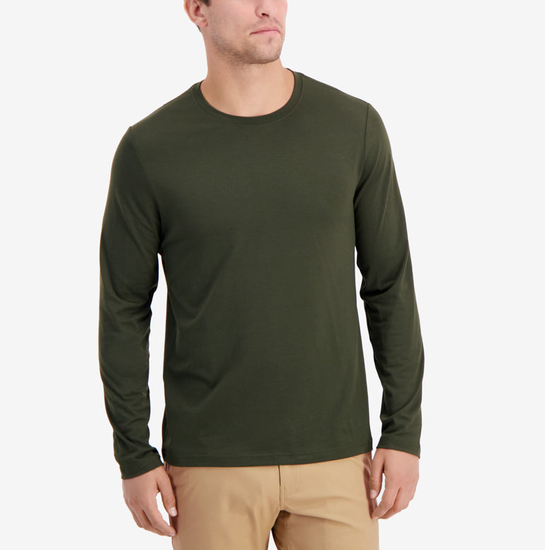 Threshold Crew Neck Long Sleeve T-Shirt Classic Fit - Final Sale - Deep Olive