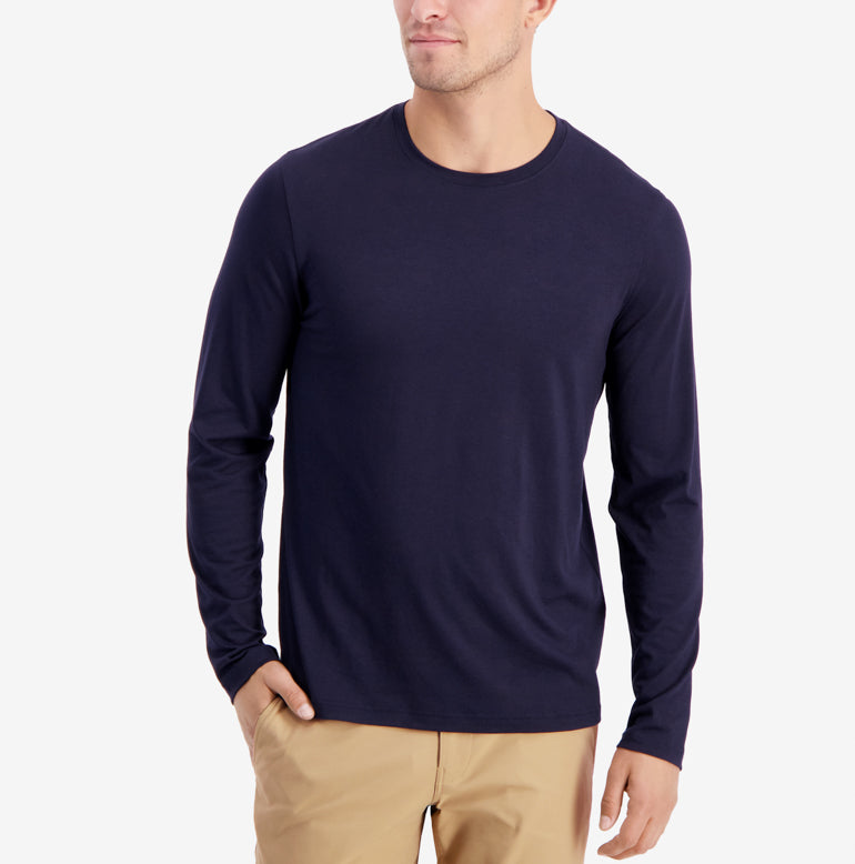 Threshold Performance Long Sleeve T-Shirt Slim Fit - Maritime Blue