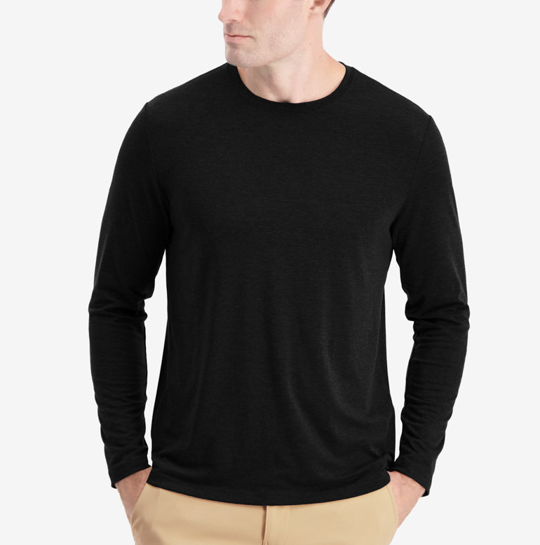 Threshold Performance Long Sleeve T-Shirt Classic Fit - Onyx Black