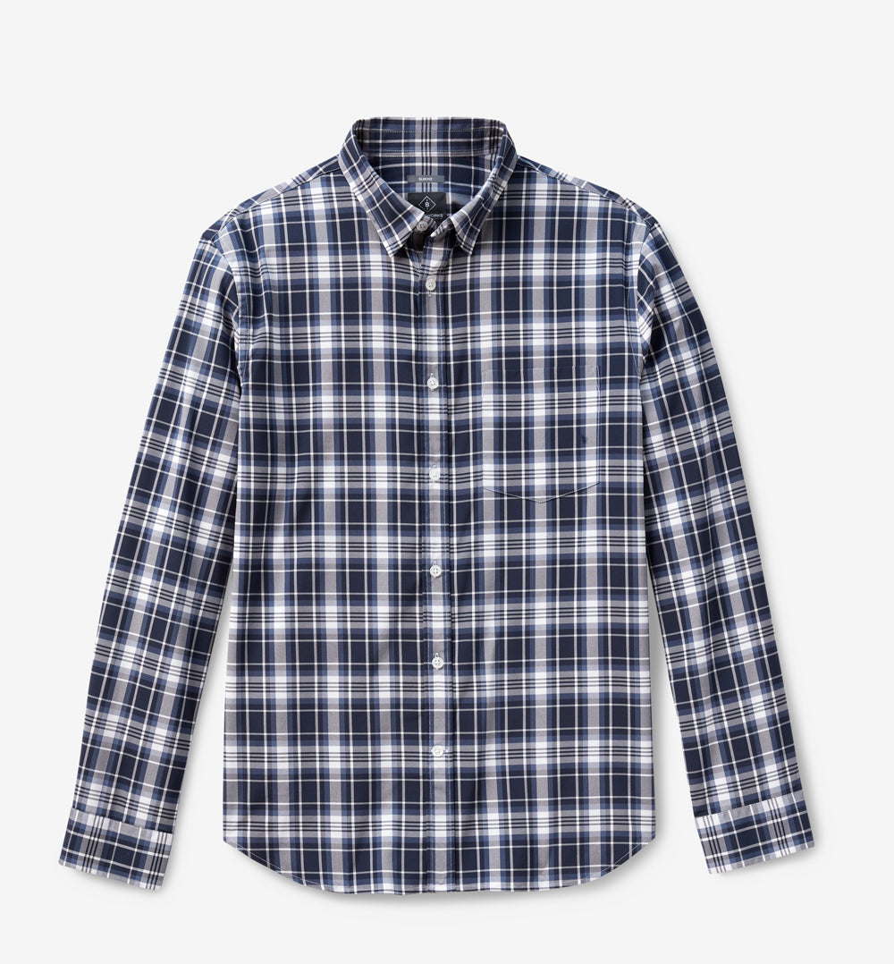 Meridian Dress Shirt 2.0 Classic Fit - Blue Black Plaid